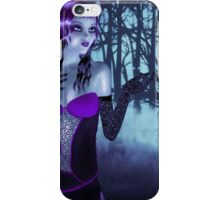 Girl in forest at night 3 iPhone Case/Skin