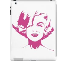 Marilyn Monroe - Fashion Model, Actress, and American Beauty Icon - Pink Outline iPad Case/Skin