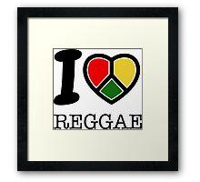 I love Reggae music... rasta maaaaaaan! Framed Print