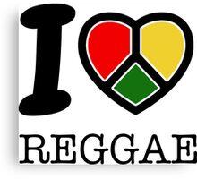 I love Reggae music... rasta maaaaaaan! Canvas Print