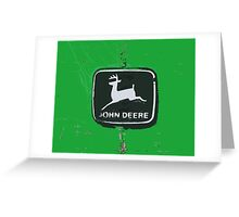 John Deere Tractor Emblem Photograph Painting Greeting Card