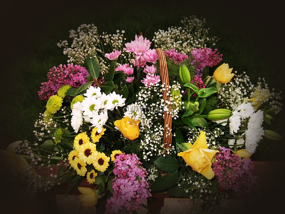 basket of flowers by cynthiab