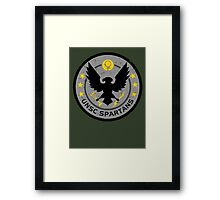 Spartan Patch Framed Print
