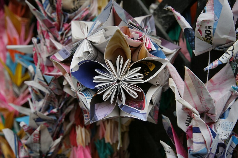 Origami temari ball - Ishiteji temple Matsuyama Ehime  by Trishy
