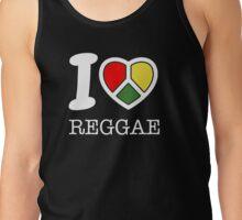 I love reggae. Black version! Tank Top