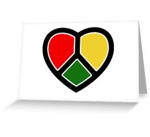 Rasta heart!  Greeting Card