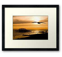 Brighton Silhouettes Framed Print