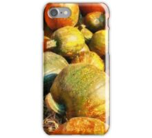 Colorful pumpkins for Halloween Scary Jack iPhone Case/Skin