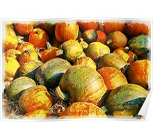 Colorful pumpkins for Halloween Scary Jack Poster