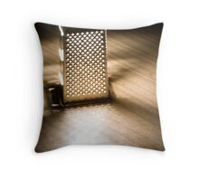 grated light Throw Pillow