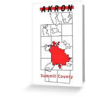 AKRON - Summit County Greeting Card