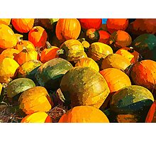 Colorful pumpkins for Halloween Scary Jack Photographic Print