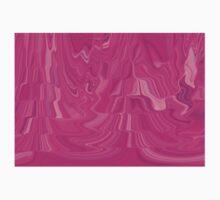 Pink Abstract Flowing Wave Water Digital Art Design Kids Tee