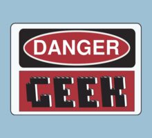 Danger Geek Sign One Piece - Short Sleeve