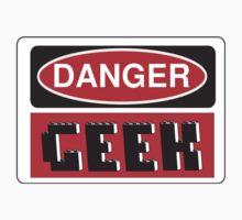 Danger Geek Sign Kids Clothes