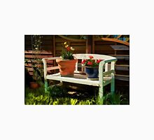 Garden bench with flowers Unisex T-Shirt
