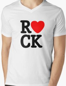 Rock and roll music love Mens V-Neck T-Shirt