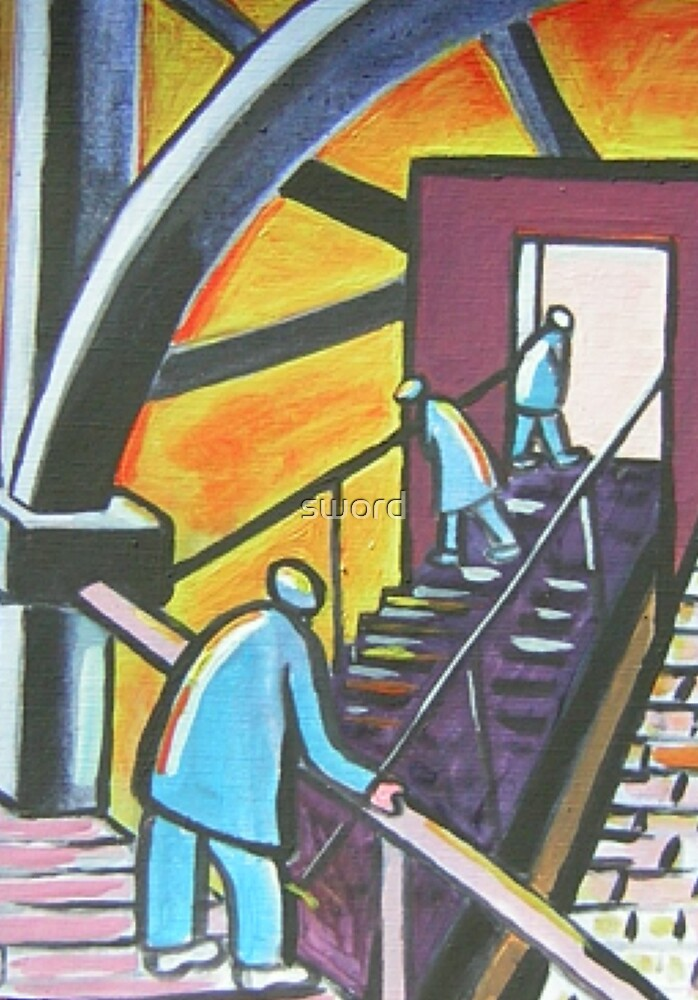 Stairway to ???? (from my original acrylic painting) by sword