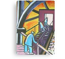 Stairway to ???? (from my original acrylic painting) Canvas Print
