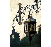 Old vintage metal street lantern lamp Photographic Print