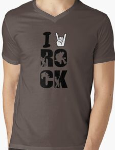I LOVE ROCK MUSIC!!!!! Mens V-Neck T-Shirt