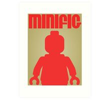 Retro Large Black Minifig, Customize My Minifig Art Print