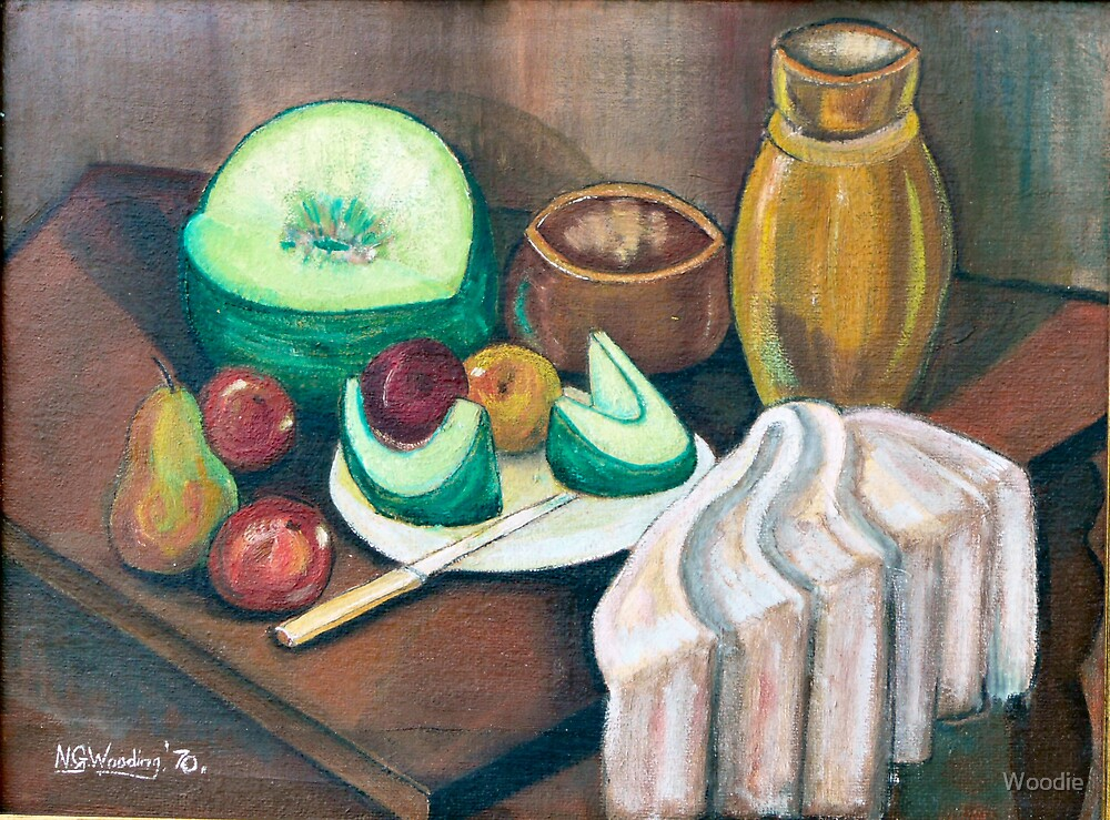 Melon and fruit by Woodie