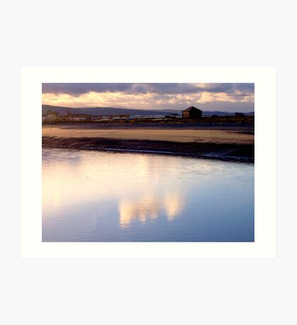 Reflection on the Clwyd Art Print