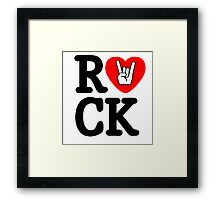 Rock!! Framed Print