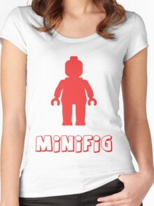 Minifig [Red], Customize My Minifig Women's Fitted Scoop T-Shirt