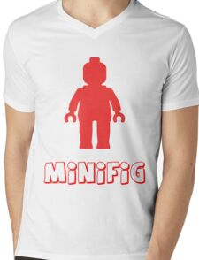 Minifig [Red], Customize My Minifig Mens V-Neck T-Shirt