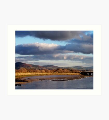 View up the Clwyd River Art Print