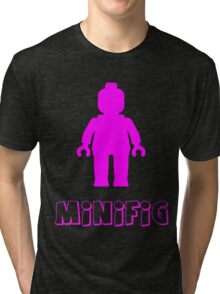 Minifig [Dark Pink],  Customize My Minifig Tri-blend T-Shirt