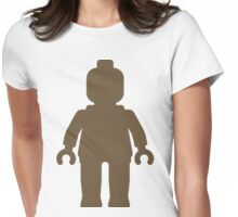 Minifig [Large Light Brown], Customize My Minifig Womens Fitted T-Shirt