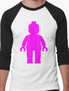 Minifig [Large Dark Pink], Customize My Minifig Men's Baseball ¾ T-Shirt