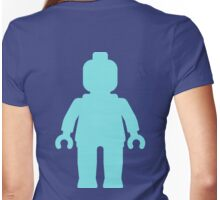 Minifig [Large Light Blue], Customize My Minifig Womens Fitted T-Shirt
