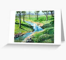 stream Greeting Card