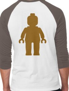 Minifig [Large Brown], Customize My Minifig Men's Baseball ¾ T-Shirt