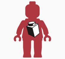Red Minifig with 1 x 1 Brick Logo, Customize My Minifig One Piece - Long Sleeve