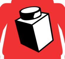 Red Minifig with 1 x 1 Brick Logo, Customize My Minifig Sticker