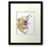 Lazer Bear Framed Print