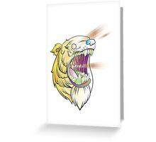 Lazer Bear Greeting Card