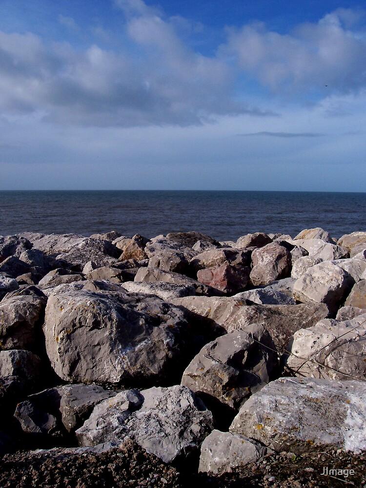 Rocks and Blue Sky by JImage