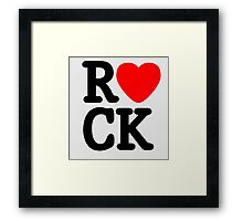 Rock Lover. Framed Print