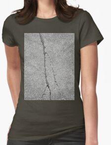 BROKEN SIDEWALK (Damaged) Womens Fitted T-Shirt