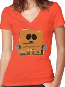 AWESOMO 2000 Women's Fitted V-Neck T-Shirt