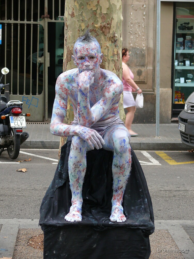 Human Statue (2) by brummieboy