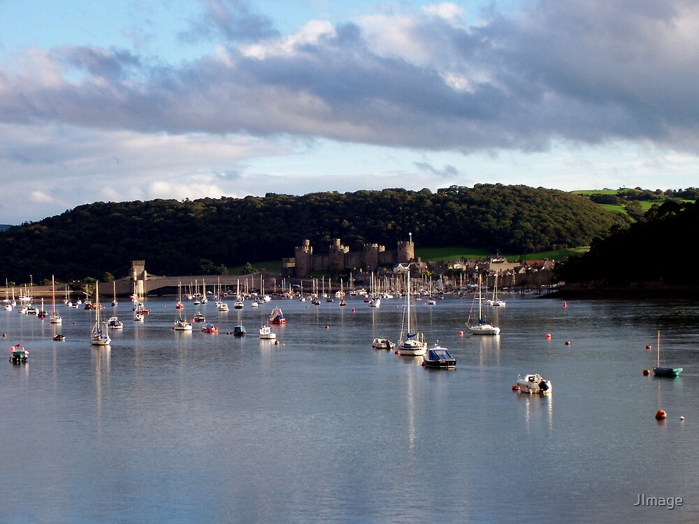 Conwy Harbour and Boats by JImage