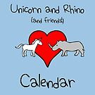 Unicorn and Rhino (and friends!) Calendar by jezkemp