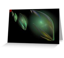 The Martian Invasion. Greeting Card